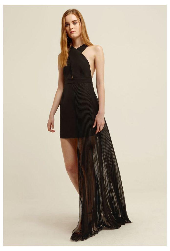 Ailla Halterneck Maxi Dress - Black