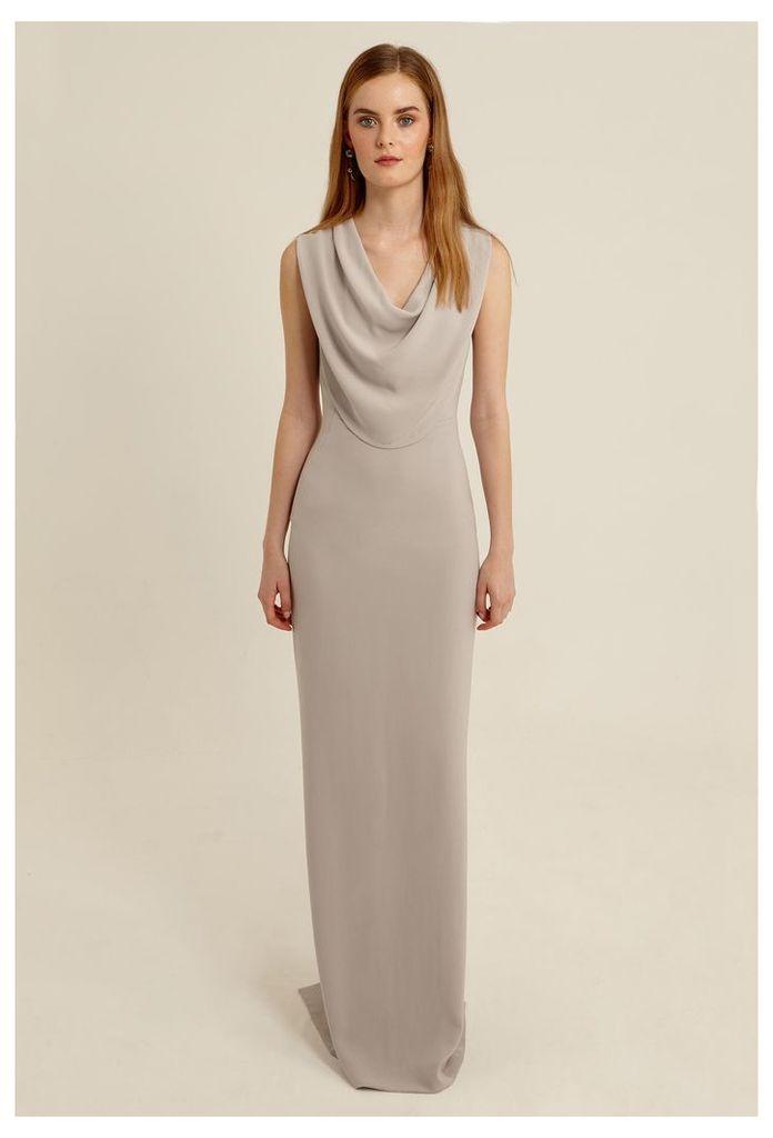 Aeronia Cowl Neck Maxi Dress - Oyster