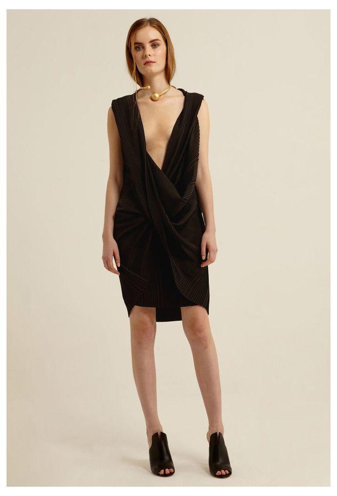 Ava Kimono Mini Dress - Black