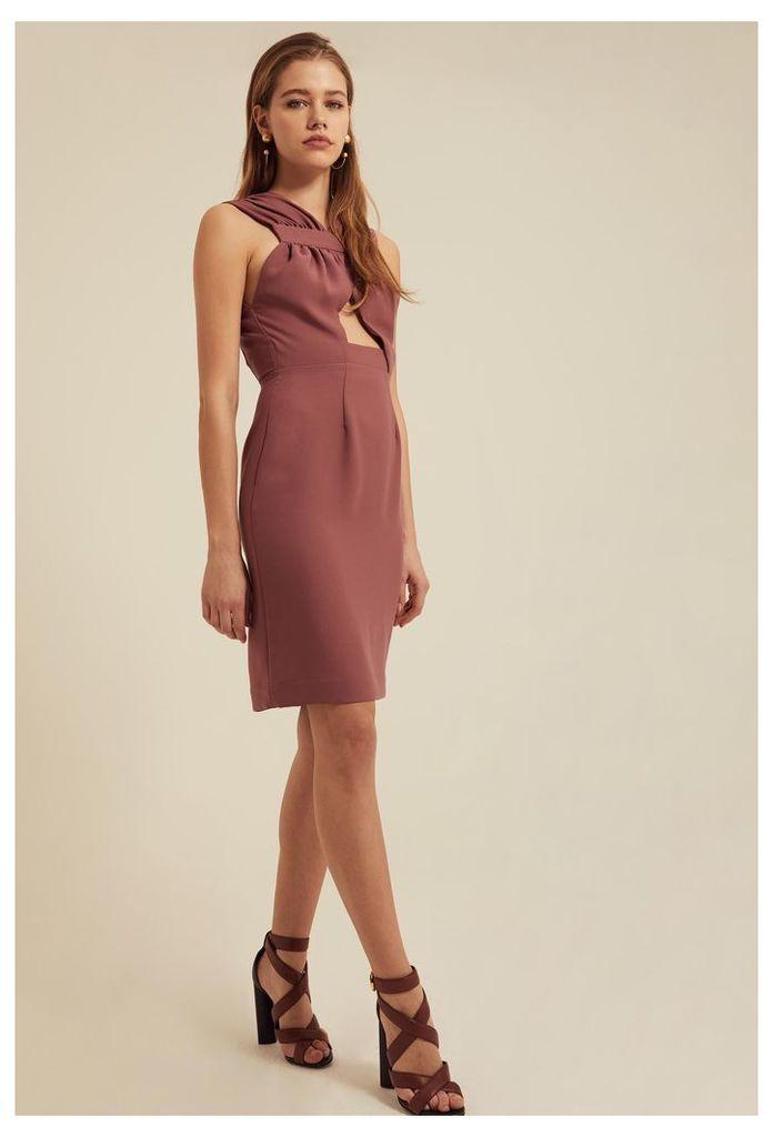 Stella Cut Out Mini Dress - Ash Rose