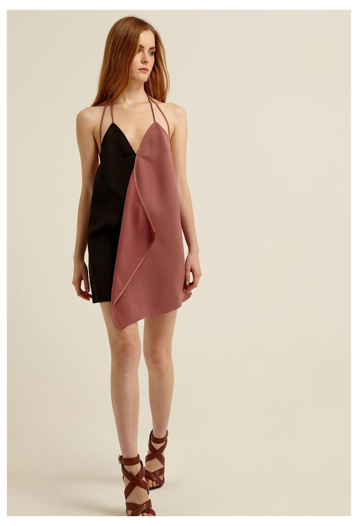 Violet Slip Mini Dress - Ash Rose / Black