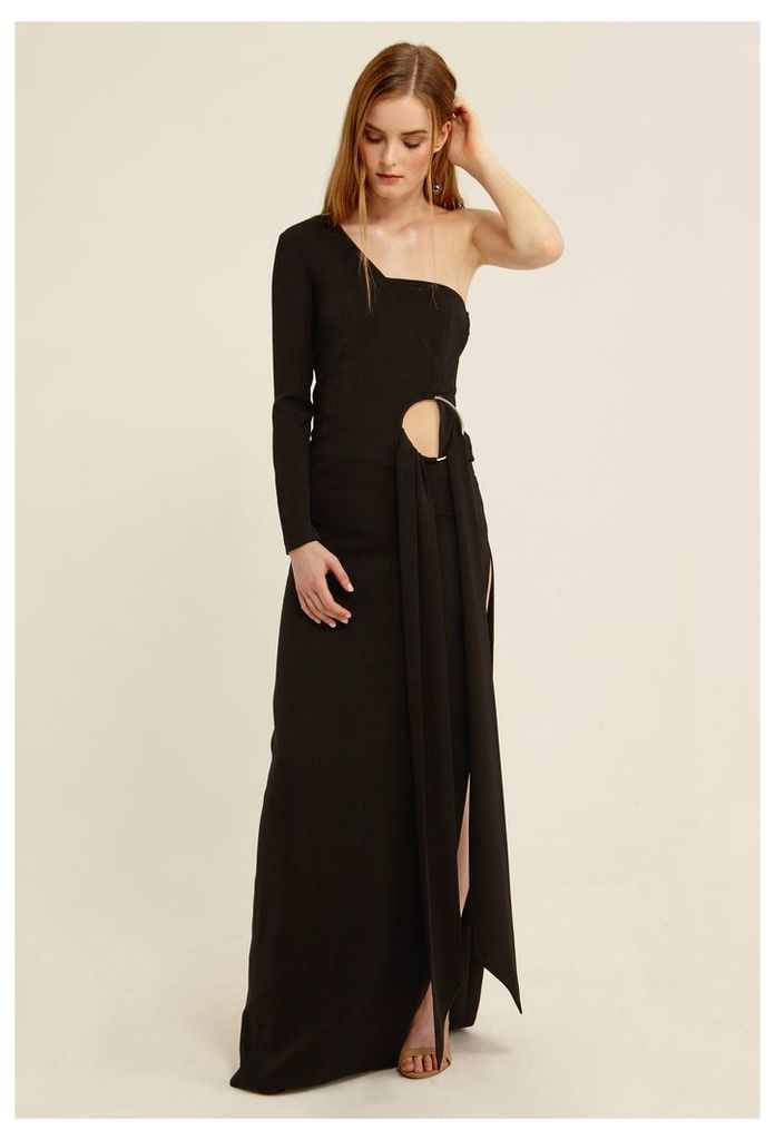 Wex One Sleeved Maxi Dress - Black