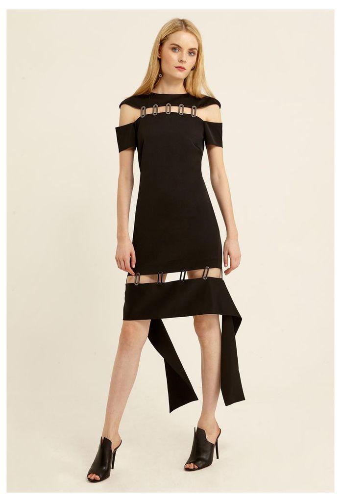 Ravena Cut-Out Mini Dress - Black