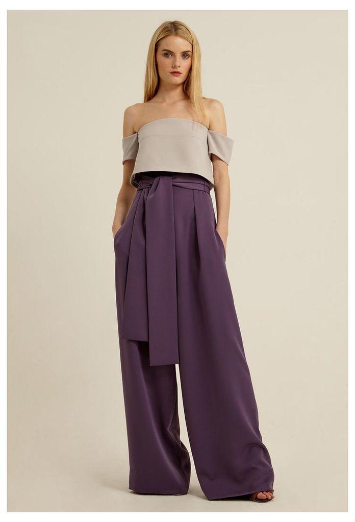 Avanti Belted Waist Trousers - Lavender