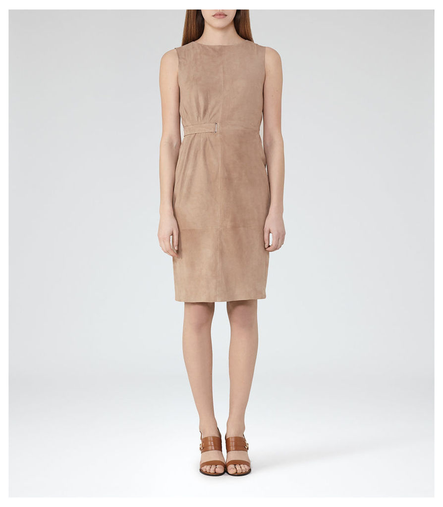 REISS Bray - Womens Suede Dress in White