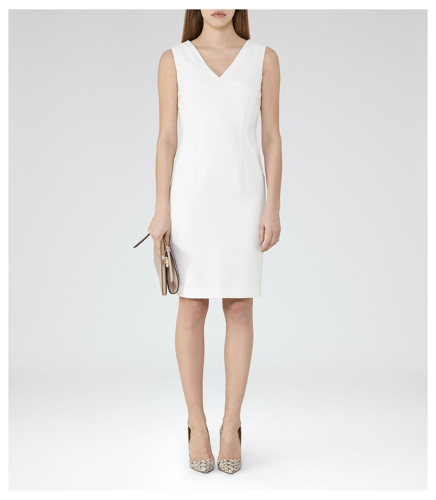 REISS Myla Dress - Womens Tailored Dress in White