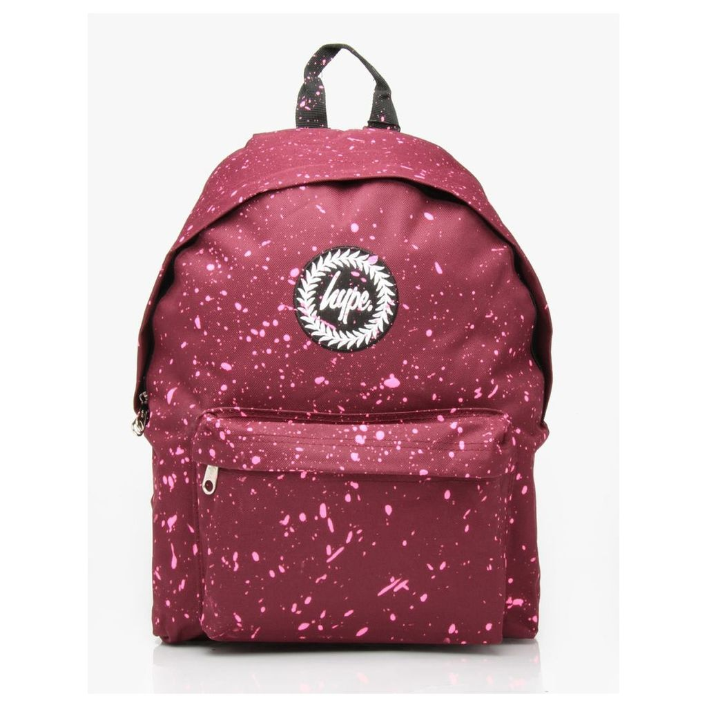Hype Speckle Backpack - Burgundy/Pink (One Size Only)