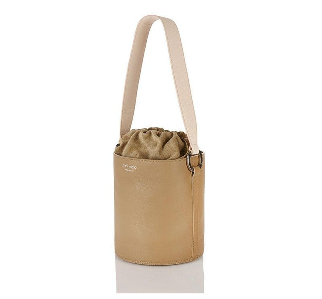 Santina Bucket Bag Light Tan With Sherbet Nude Strap