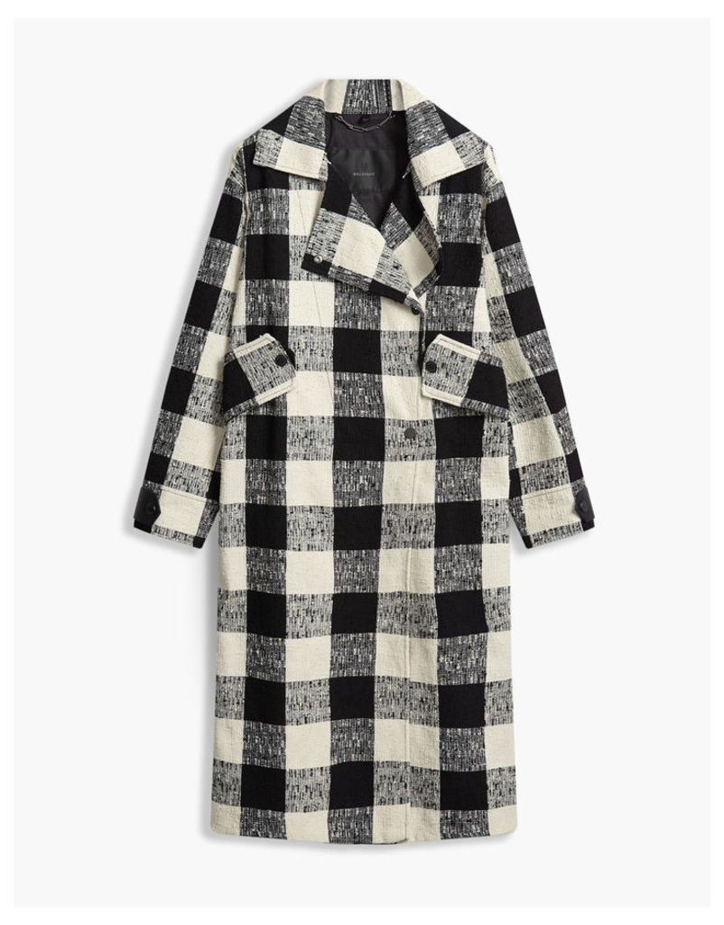 Belstaff Lowther Trench Coat White/Black
