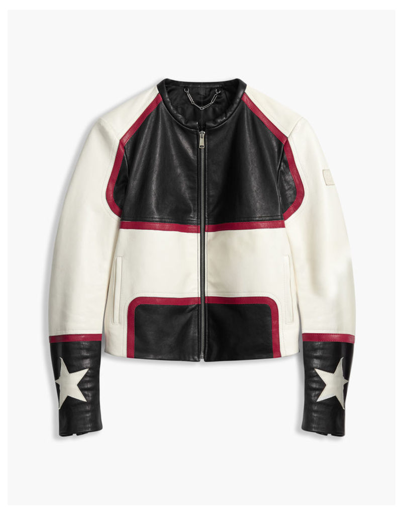 Belstaff Whitaker Blouson Jacket Black/White/Red