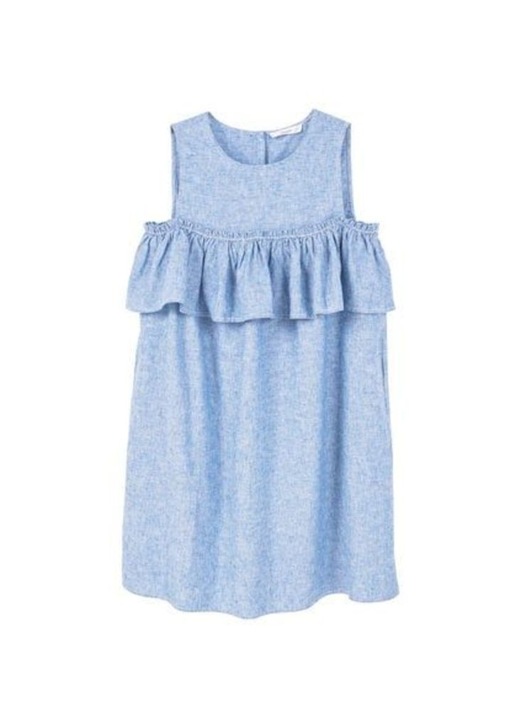 Ruffled linen dress