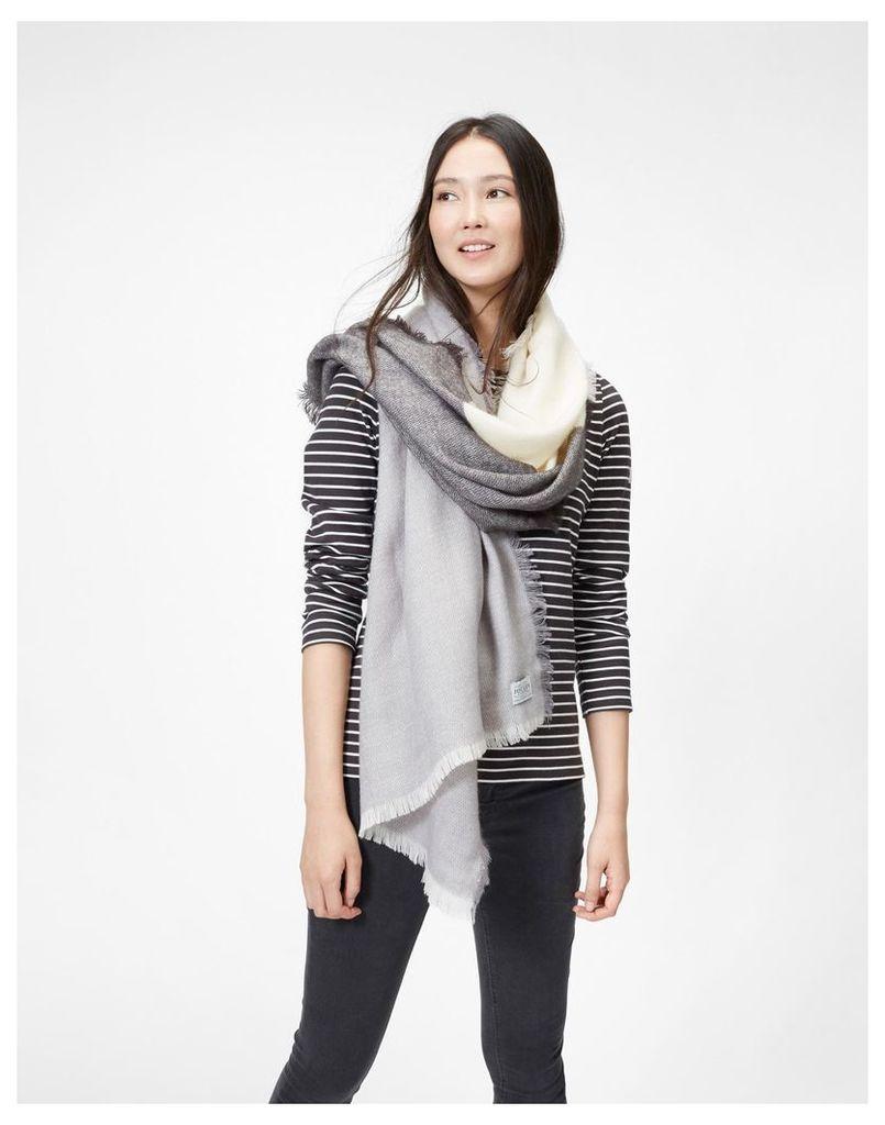 Soft Grey Berkley Scarf  Size One Size | Joules UK