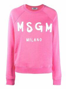 MSGM printed logo sweatshirt - PINK