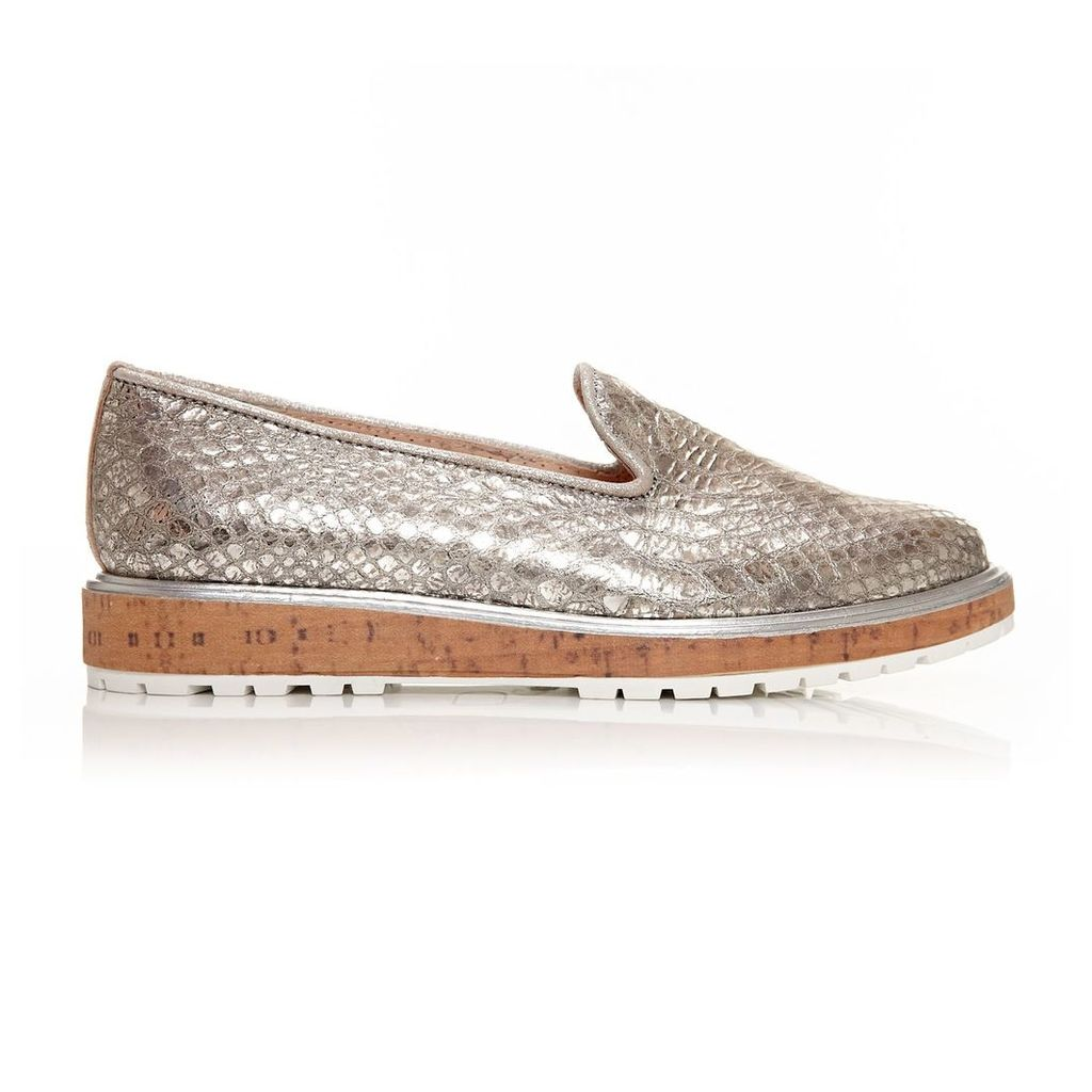 Moda in Pelle Espada Pewter Low Casual Shoes
