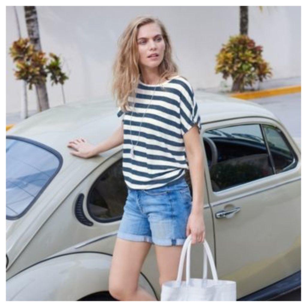 Linen Wide Stripe T-Shirt