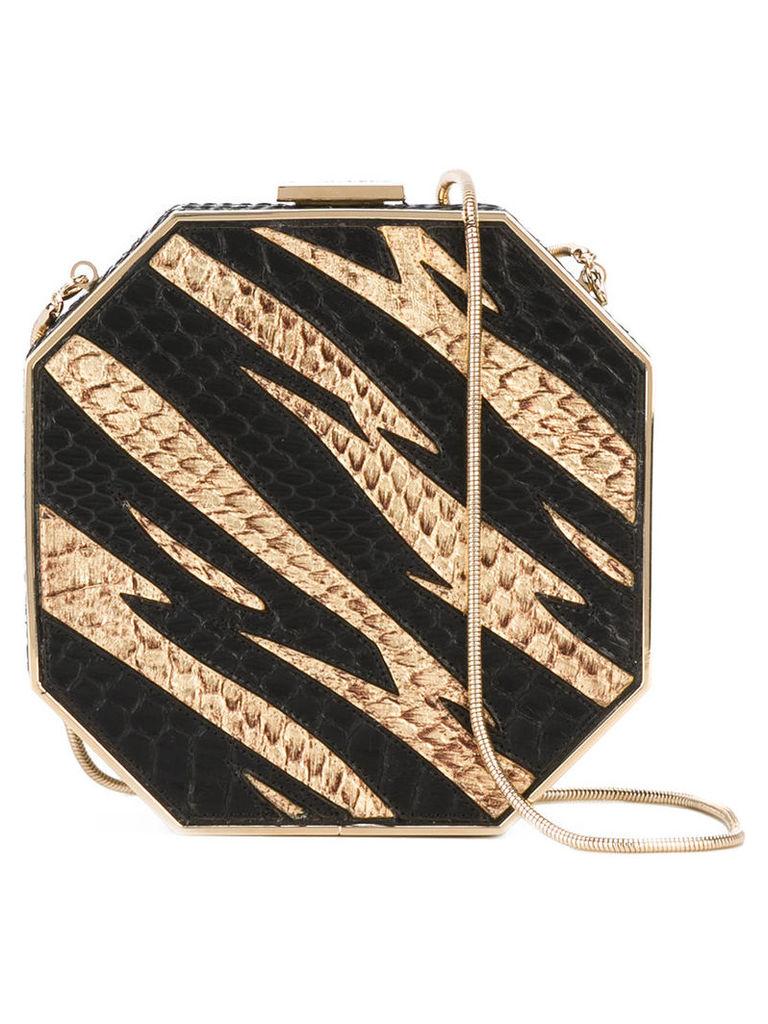 Dsquared2 - Disco clutch bag - women - Calf Leather/Snake Skin - One Size, Women's, Black