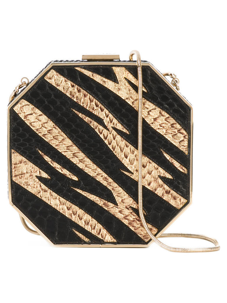 Dsquared2 - Disco clutch bag - women - Calf Leather/Snake Skin - One Size, Women's, Black