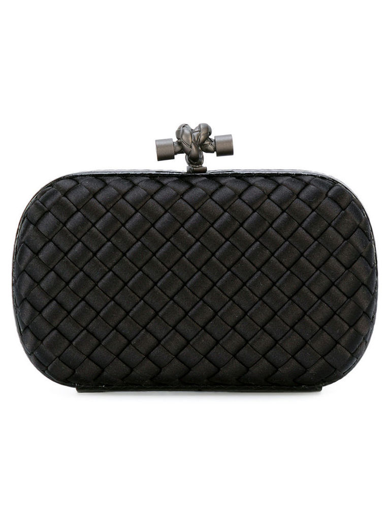 Bottega Veneta - woven knot clutch - women - Leather/Polyester - One Size, Women's, Black