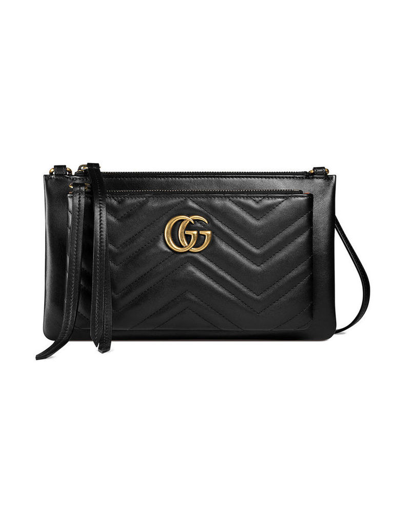 Gucci - GG Marmont pouch - women - Leather/metal/Microfibre - One Size, Women's, Black