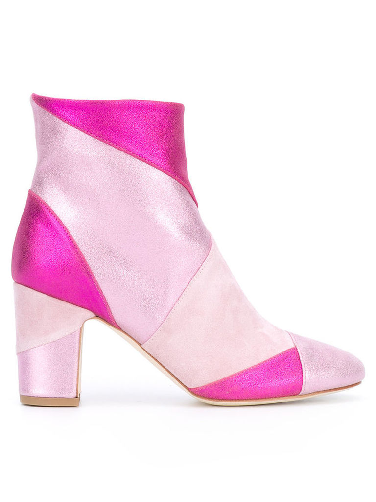 Polly Plume - Ally boots - women - Leather - 36, Women's, Pink/Purple