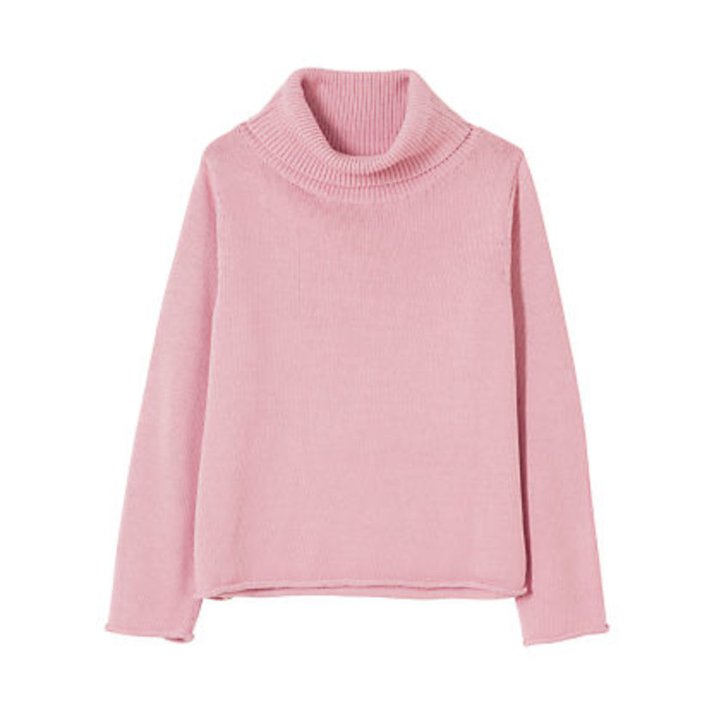 Winser London Cotton Roll Neck Jumper