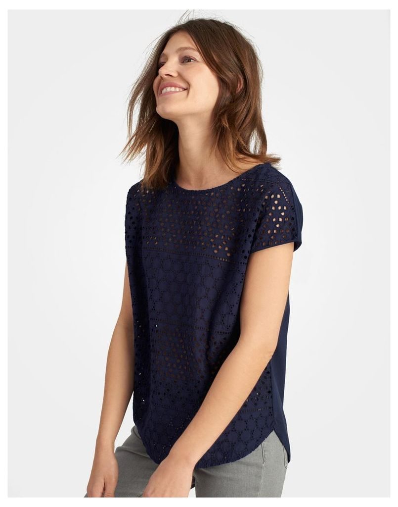 French Navy Nadine Jersey Top  Size 12 | Joules UK