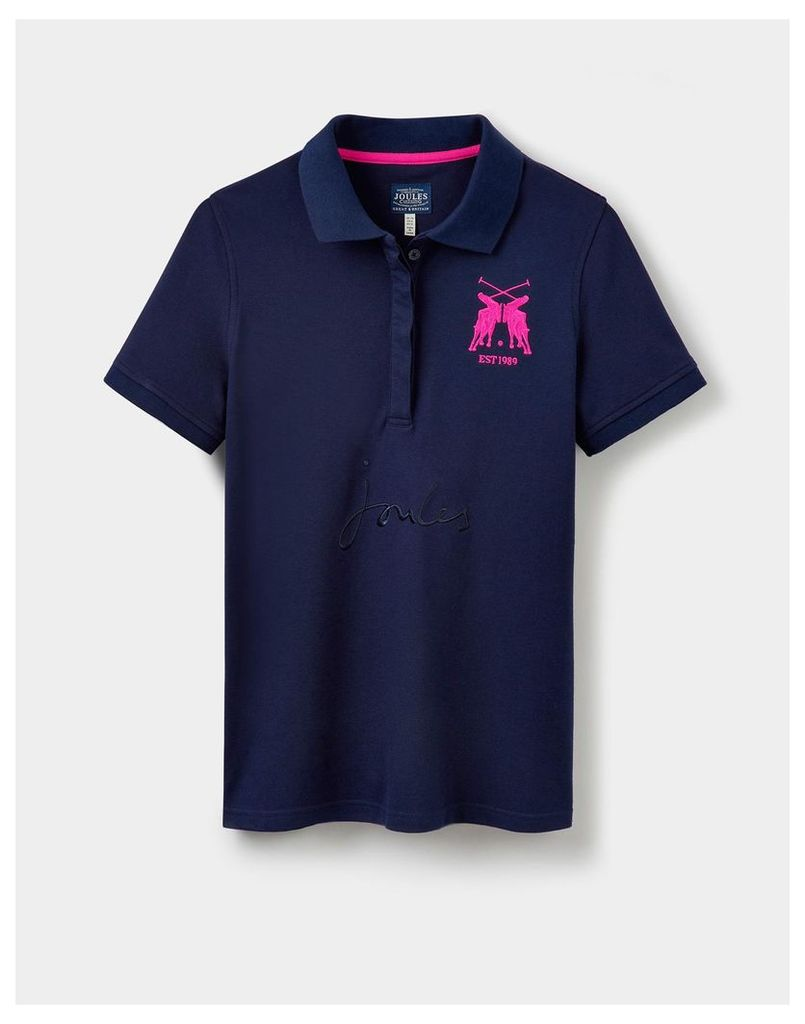 French Navy Amity Slim Fit Polo Shirt  Size 16 | Joules UK