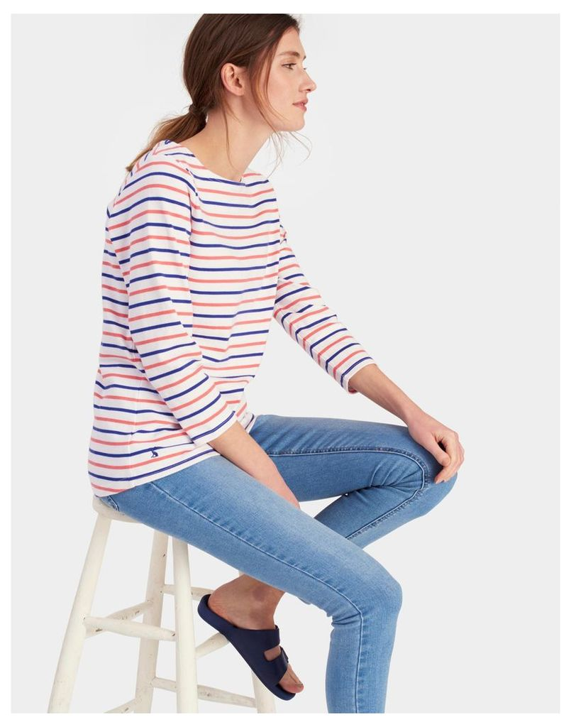 Pink Blue Stripe Harbour Jersey Top  Size 12 | Joules UK