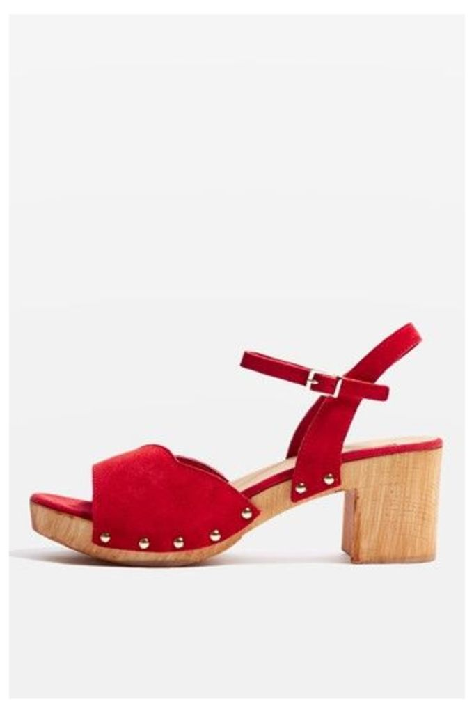 Womens VALENTINE Sweetheart Sandals - Red, Red