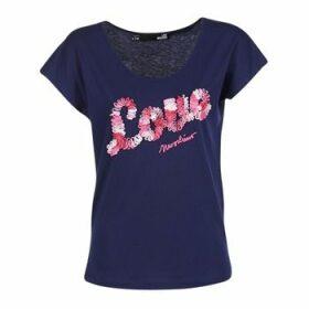 Love Moschino  W4G4127  women's T shirt in Blue