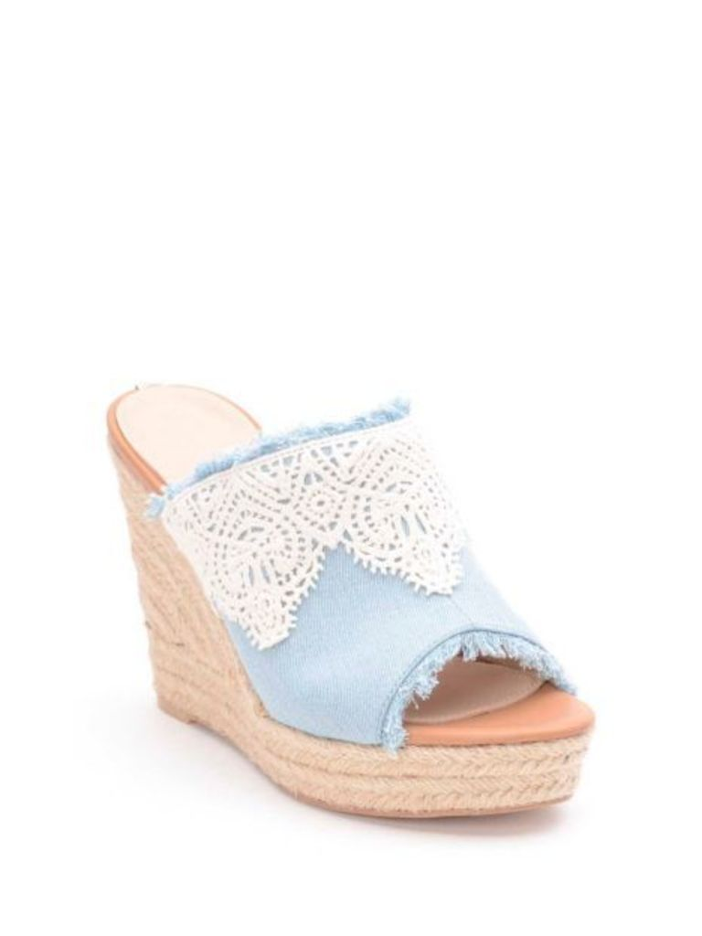 Guess Kalena Cotton Wedge Sandal