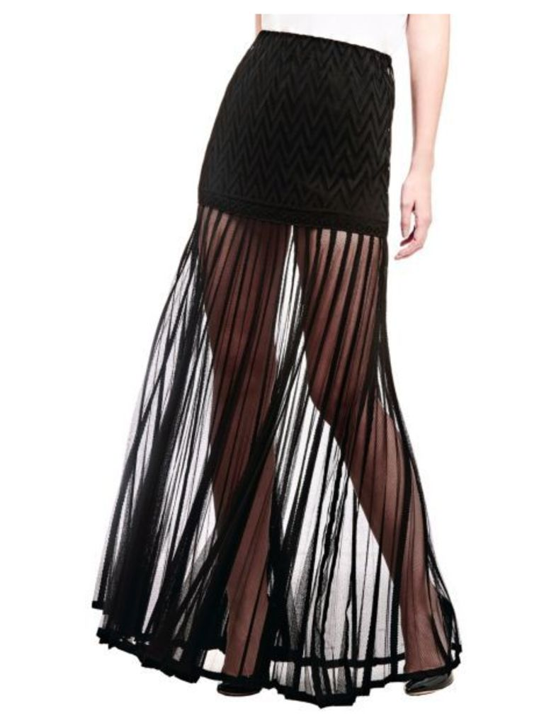 Guess Marciano Pleated Long Skirt