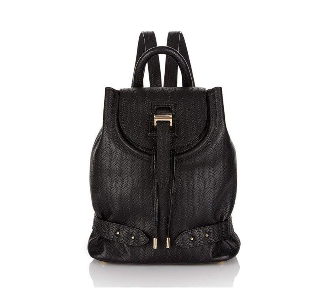 Backpack Mini Black Woven