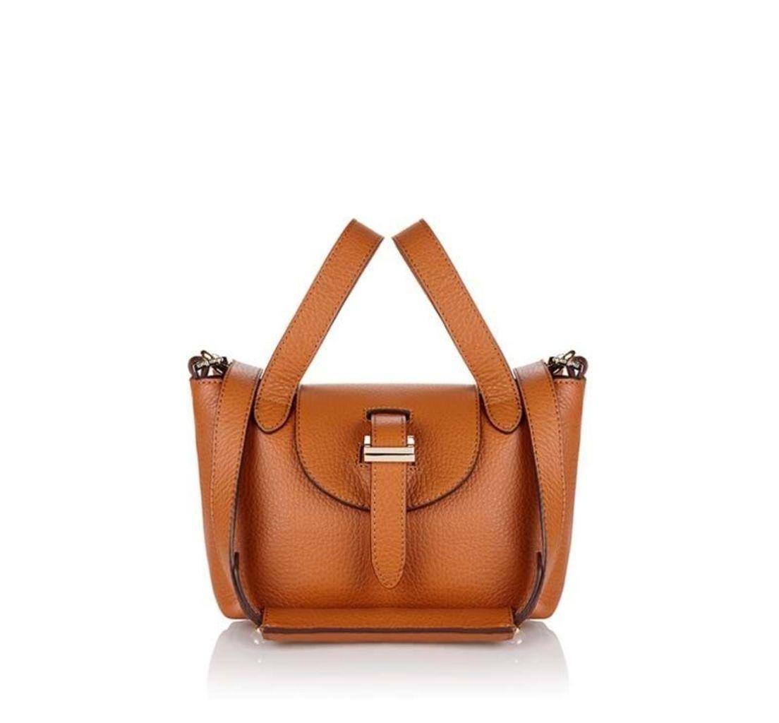 Thela Micro Mini Cross Body Bag Tan