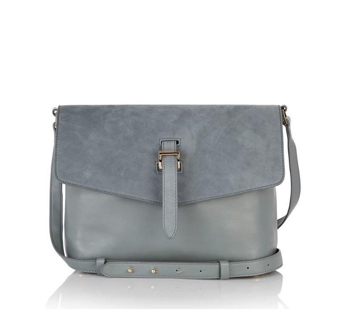 Maisie Medium Cross Body Bag Blue Heron Suede
