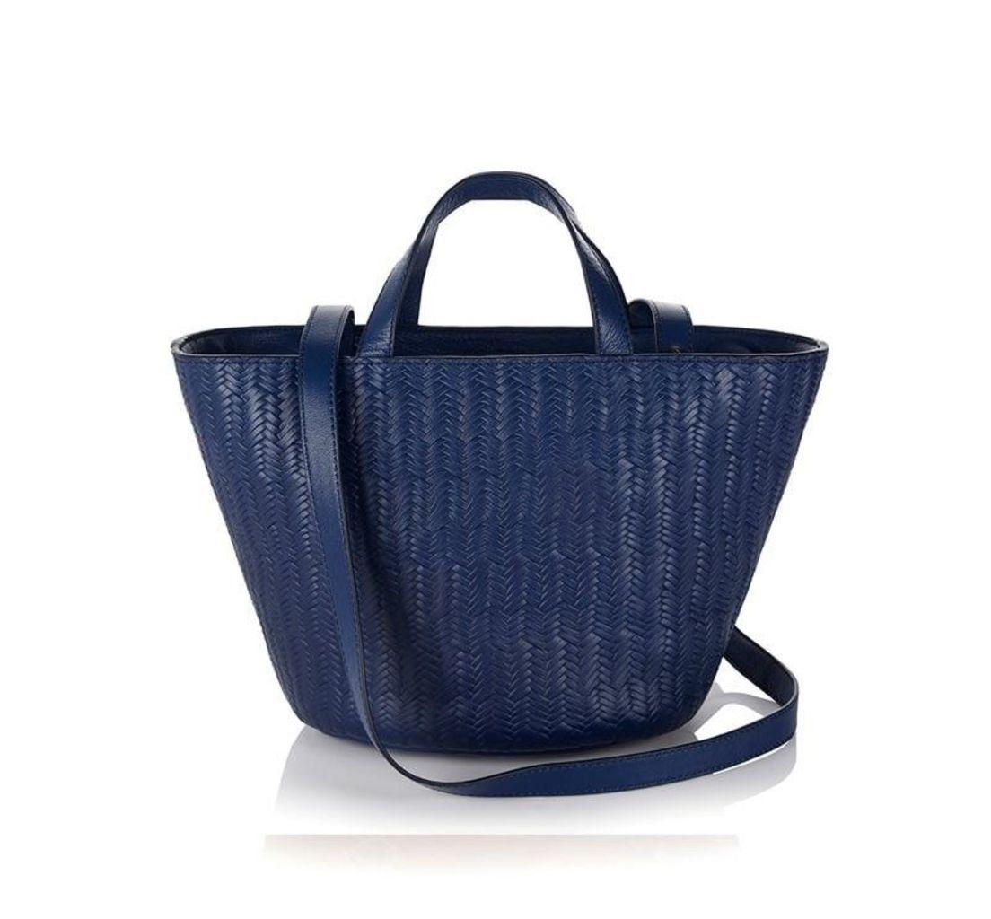 Rosalia Mini Cross Body Bag Midnight Blue Woven