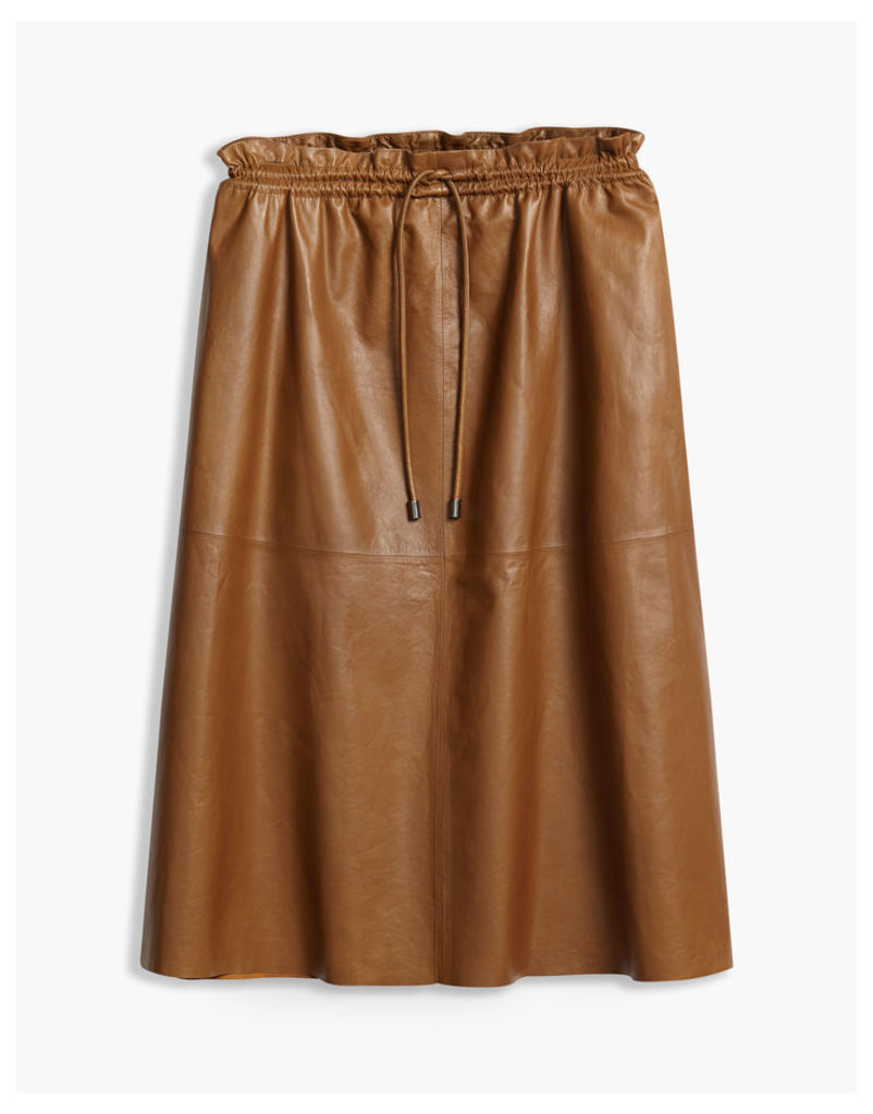 Belstaff Hadrian Midi Skirt Rust Brown