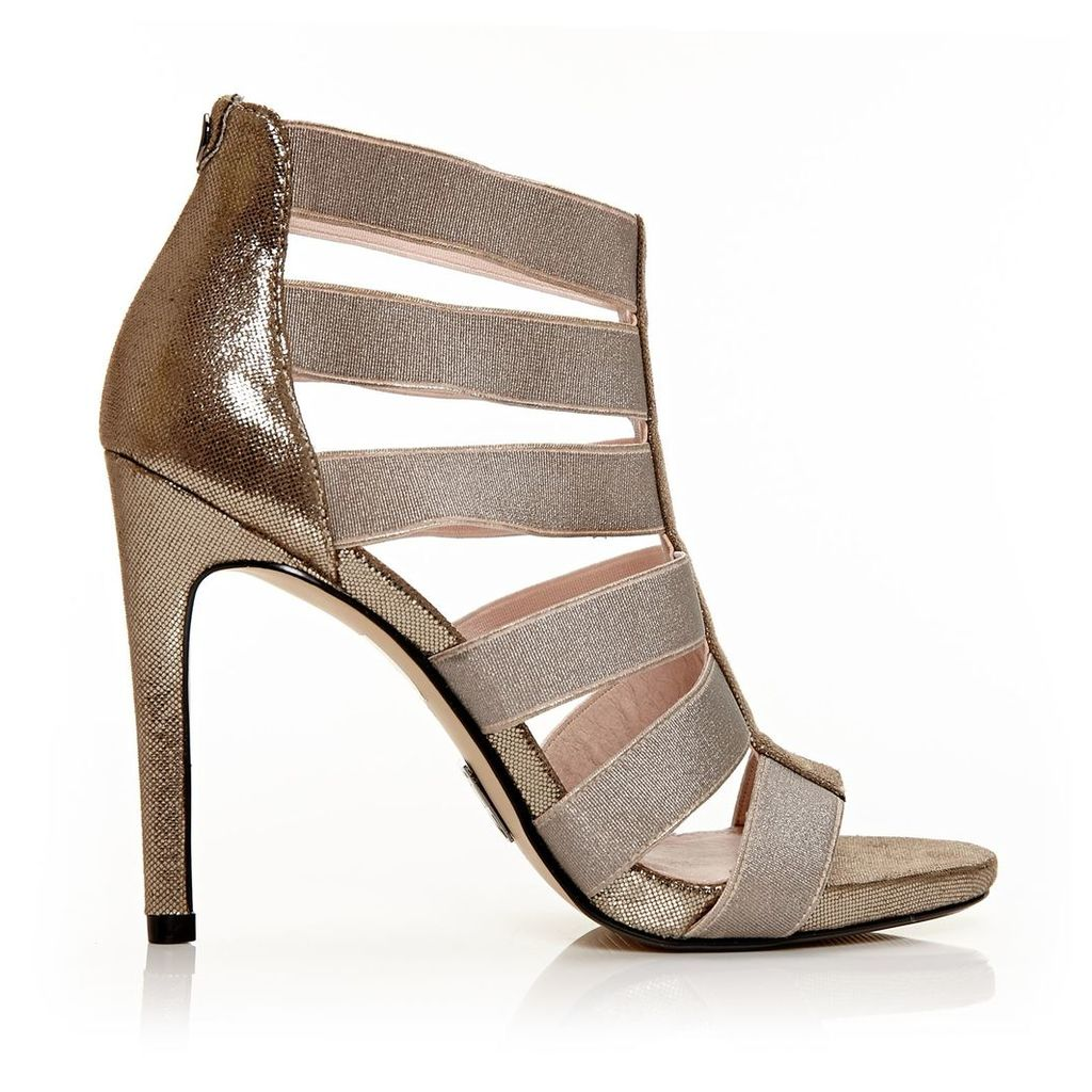 Moda in Pelle Silvera Pewter Very High Occasion Sandal