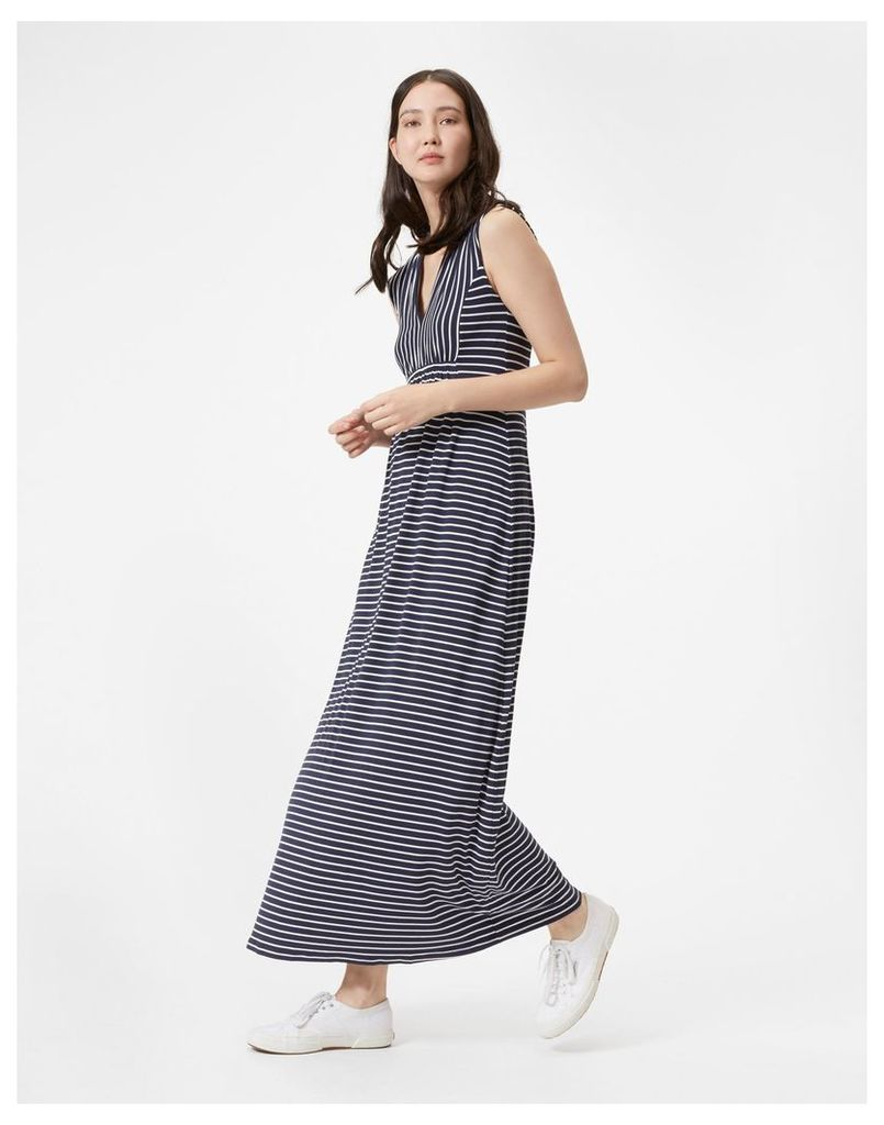 Navy Stripe Rosie Empire Maxi Dress  Size 20 | Joules UK