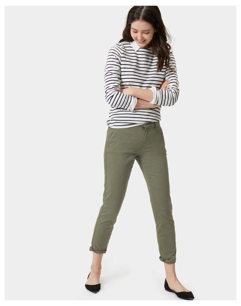 Soft Khaki Hepburn Chino Trousers  Size 12 | Joules UK