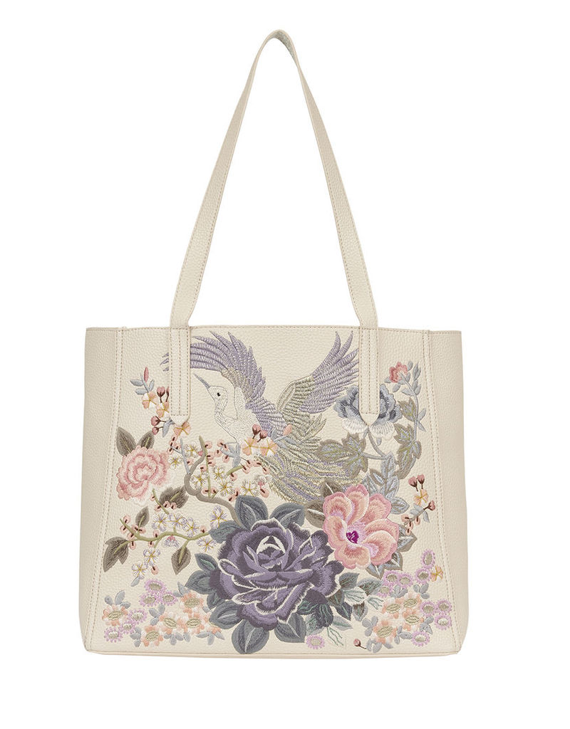 Phoenix Embroidered Reversible Tote Bag