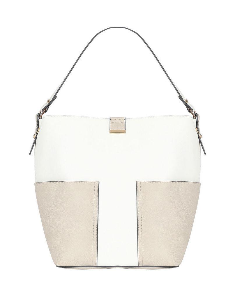Contrast Bucket Tote Bag