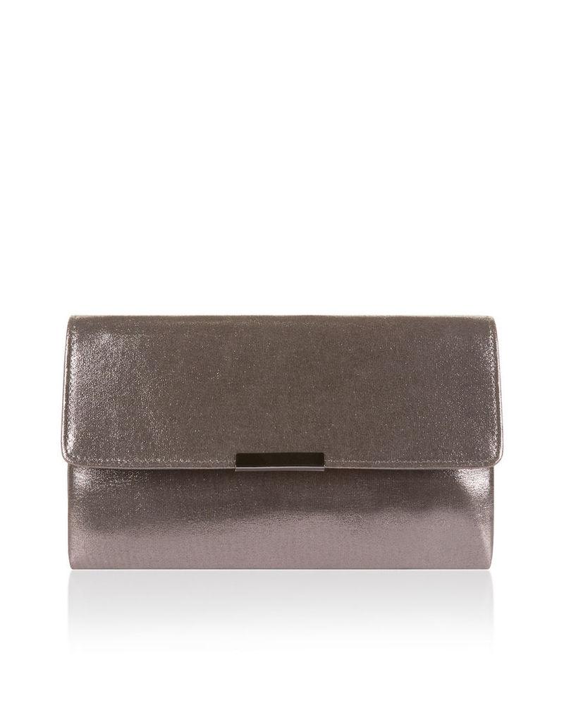 Francesca Shimmer Foldover Clutch Bag
