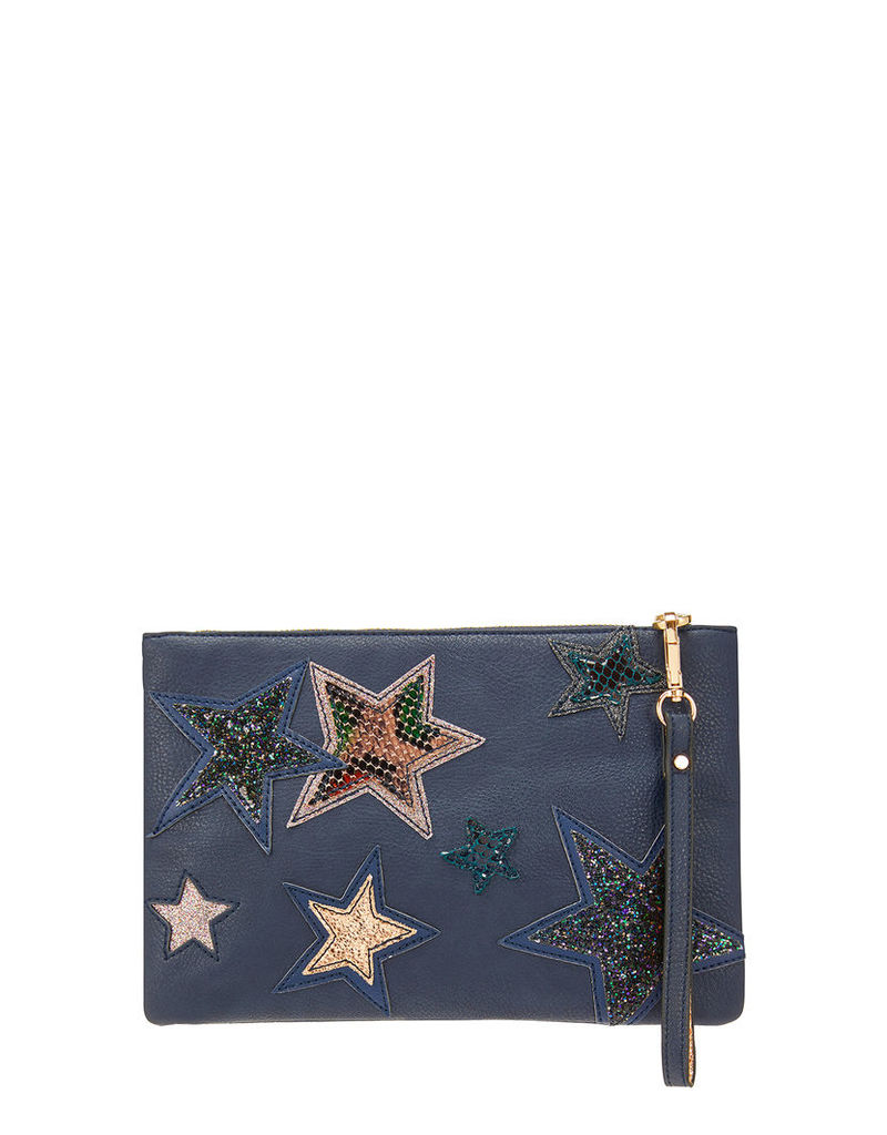 Star Ziptop Clutch Bag
