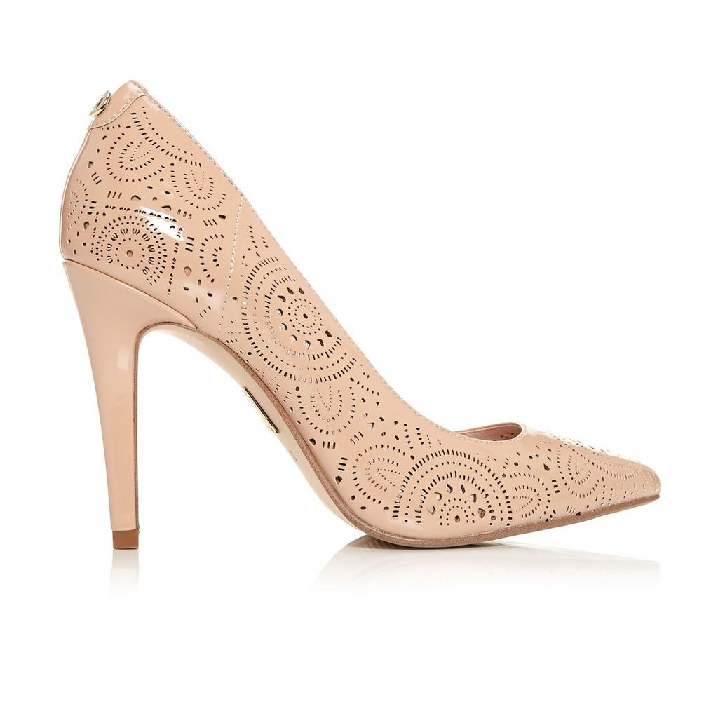 Moda in Pelle Caiella Nude High Smart Shoes