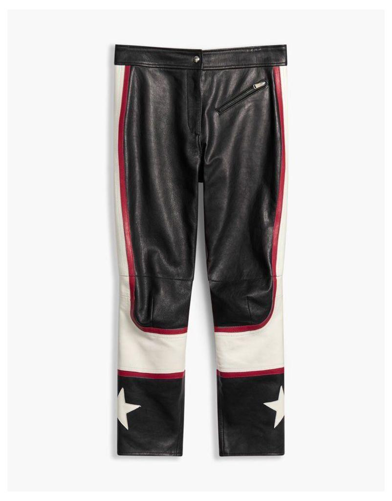 Belstaff Marton Racer Trousers Black/White/Red