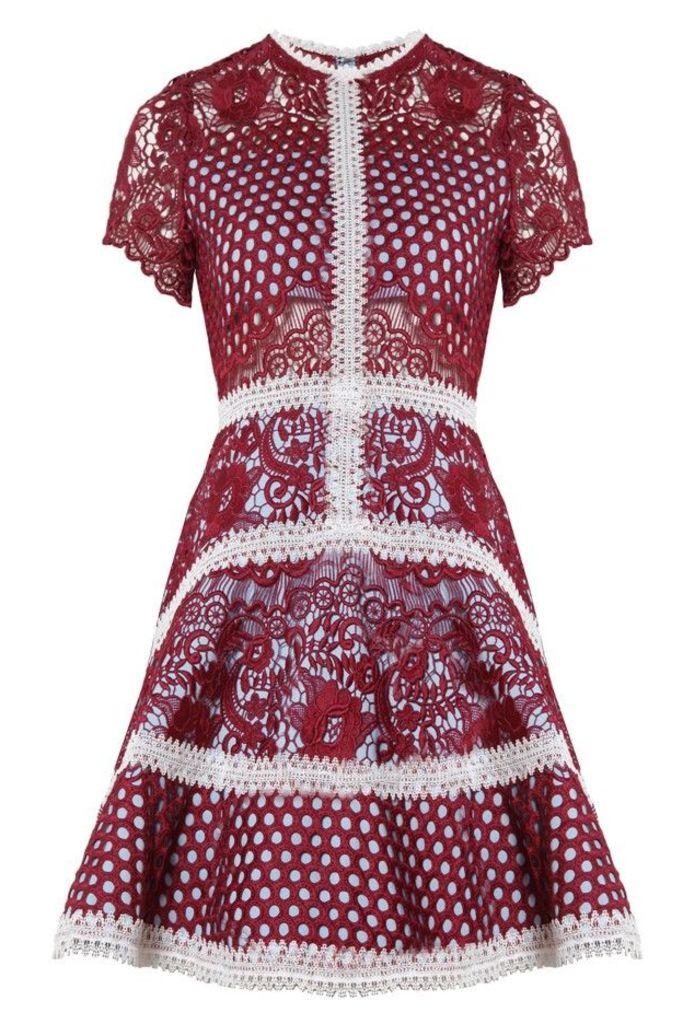 Rustikan Dress Burgundy Mosaic