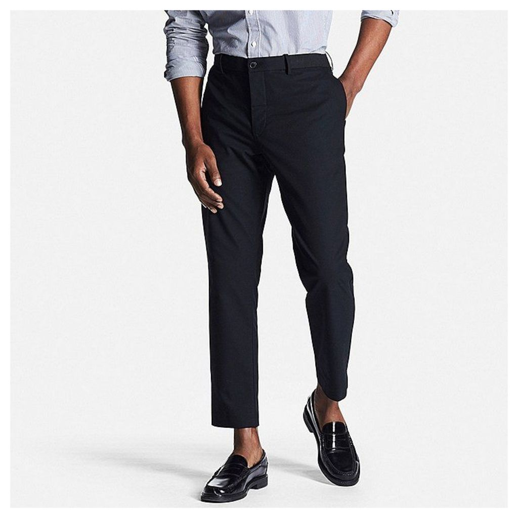 Uniqlo  Men Relaxed Ankle Pants - Black - M