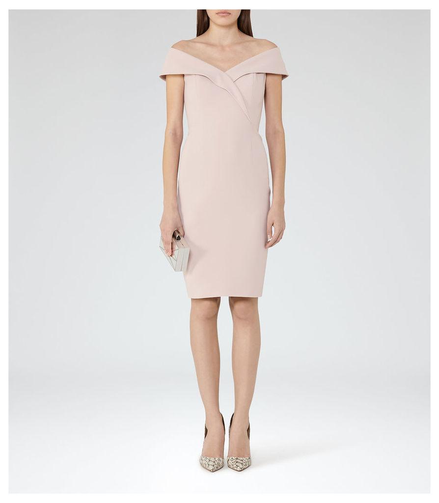 REISS Haddi - Womens Off-the-shoulder Dress in Orange