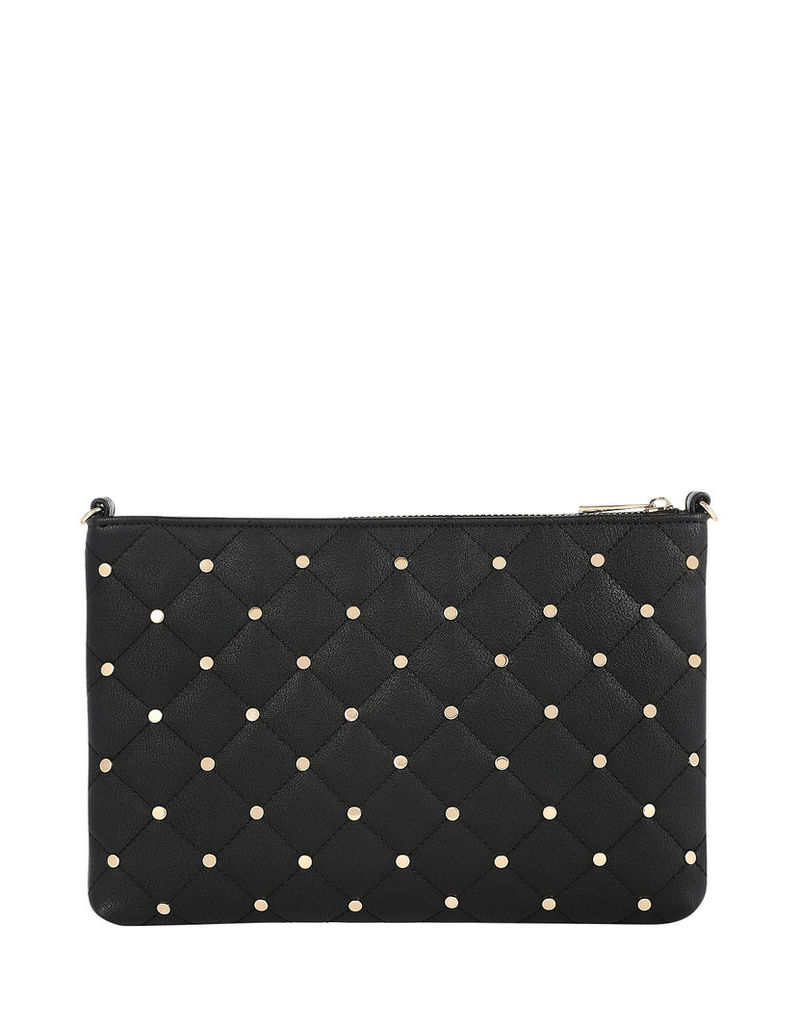 Quilted Studded Clutch Bag